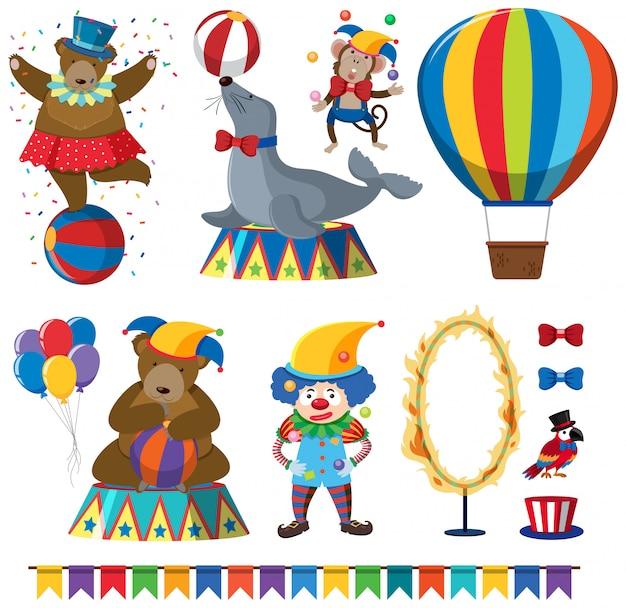 A set of circus animal show