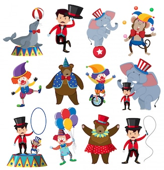 A set of circus character