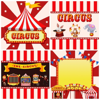 Set of circus template