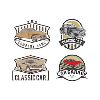 Set of classic car emblems