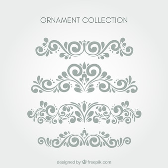 Set of classic ornaments