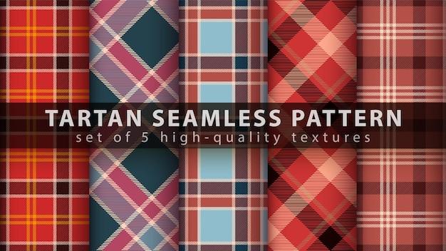 클래식 타탄 원활한 패턴 설정