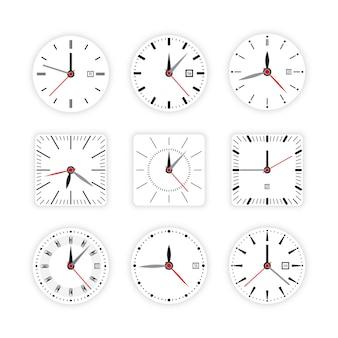 Set clock dial timer
