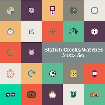 Colore orologi insieme vettoriale