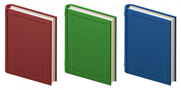 Set of closed books in hard cover