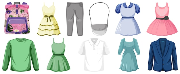 Set of clothes illustration