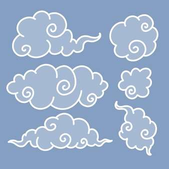 Set of clouds, doodles
