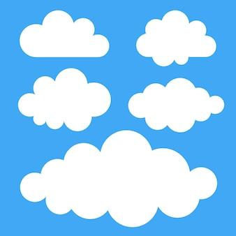 Set of clouds, vector illustration