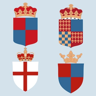 Set of coat of arms.