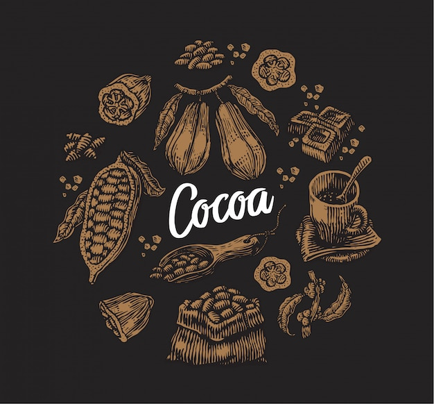 Set of cocoa elements