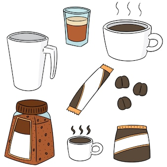 Set of coffee