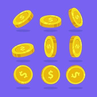동전 템플릿을 설정합니다.