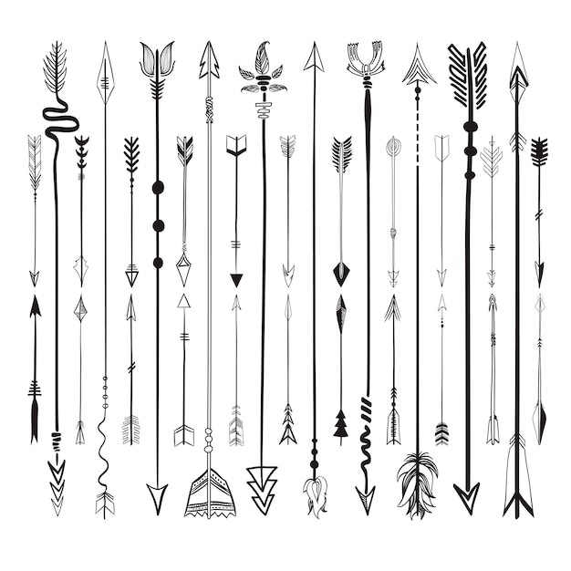 Set collection of arrows icons