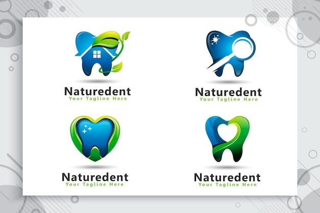 Set collection of dental care logo
