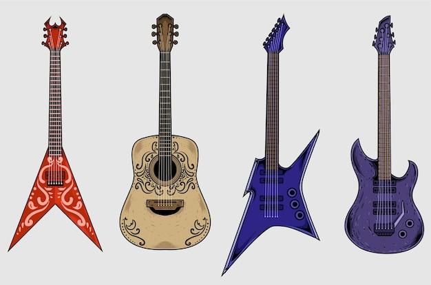 Набор коллекции гитары