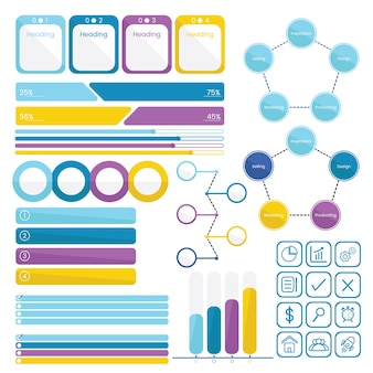 Set collection of infographics