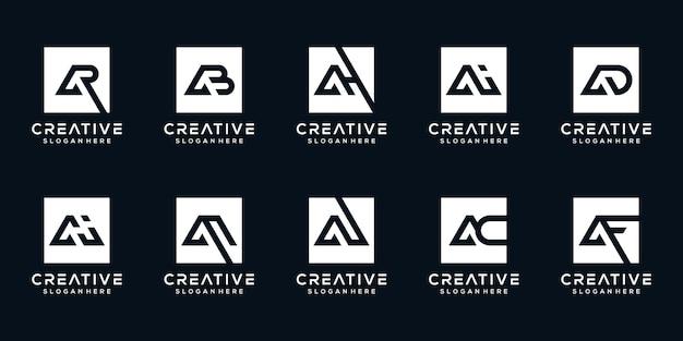 컬렉션 편지 로고 디자인 서식 파일 설정