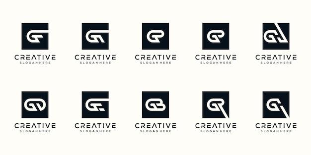 컬렉션 편지 g 로고 디자인 서식 파일 설정