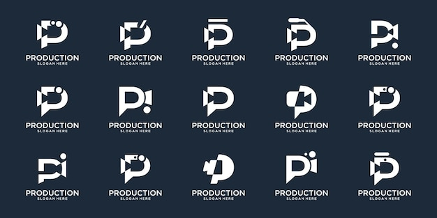 Set collection letter p and creative camera videos film making production set design inspiration.
