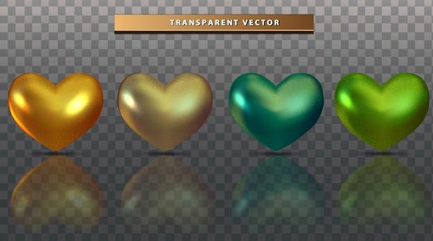 Установить коллекцию любви красочный прозрачный