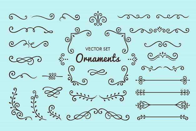 セットのヴィンテージ装飾要素