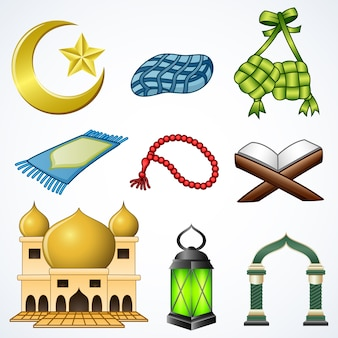 Set collection of ramadan element
