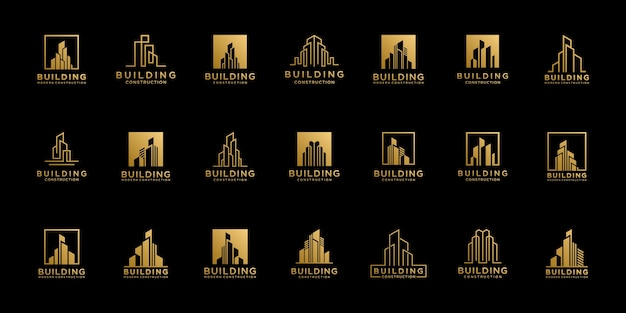 Set collection real estate logo design templates.