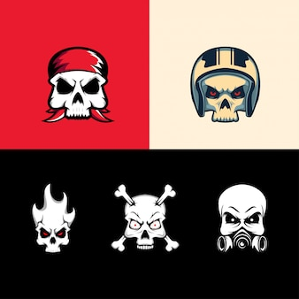 Set collection skull heads