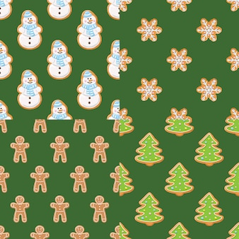 Set collections of christmas gingerbread seamless patterns