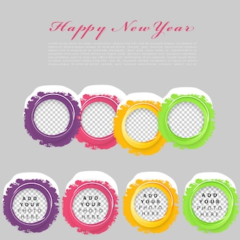Set di cerchi a colori.