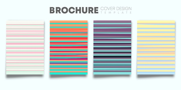Set of color gradient covers