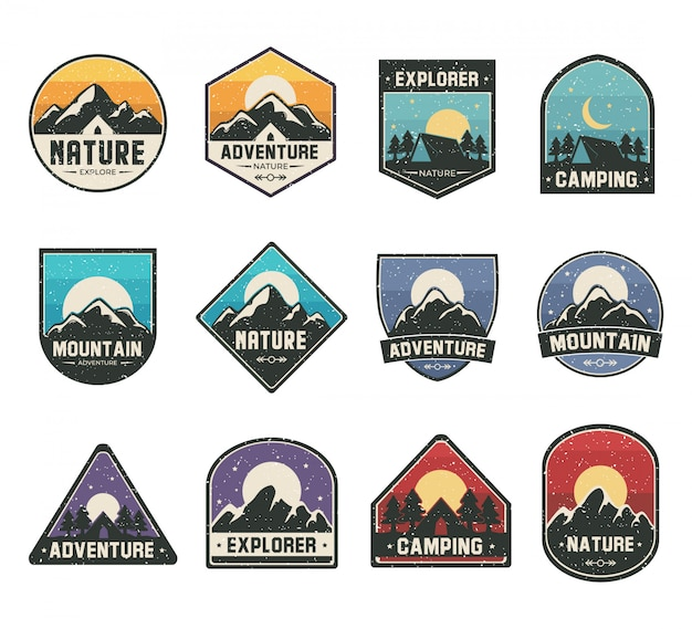 Set color logo for adventure or outdoors activities