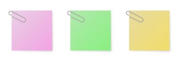 Set of color  note papers
