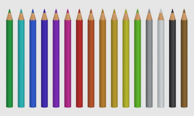 Set of color pencil