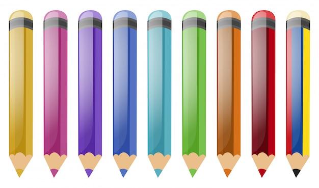 Set of color pencils