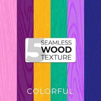 Set of color vector seamless patterns. wooden texture. vector illustration for posters, backgrounds, print, wallpaper. illustration of wooden boards. eps10.
