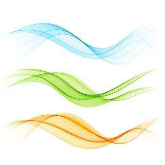 Set of color wave color wave