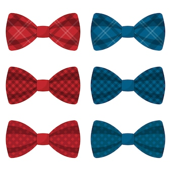 Set of colored bow ties  illustration
