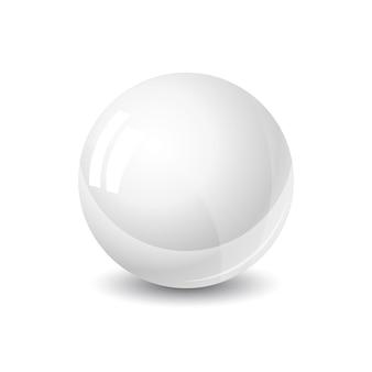 デザイン要素の透明な背景に分離された光沢のある金属で着色された金属球を設定します
