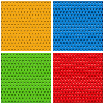 Set of colored seamless backgrounds,  illustration
