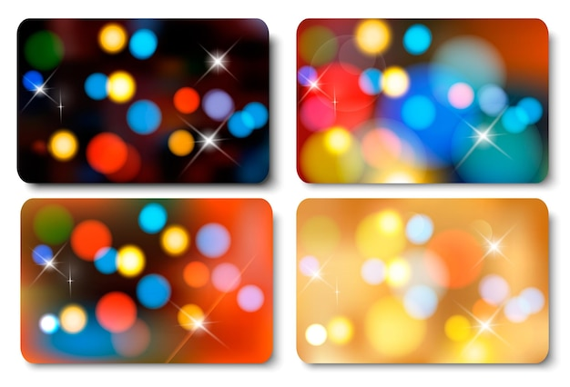 Set of colorful abstract gift cards.