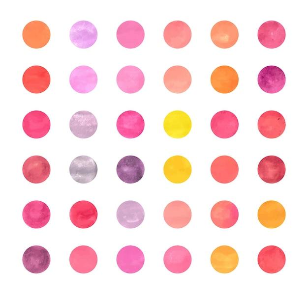 Instagramのハイライトカバーやその他の背景にカラフルな抽象的な水彩サークルを設定します