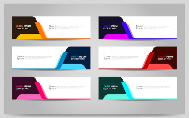 Set of colorful banner