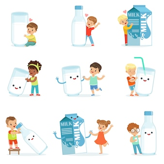 Set for  . colorful cartoon detailed  illustrations  on white background