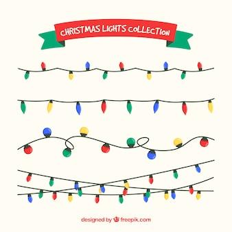 Set of colorful christmas lights