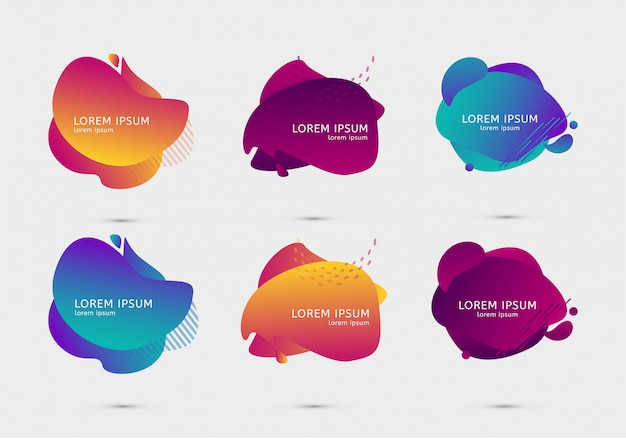 Set of colorful design gradient templates
