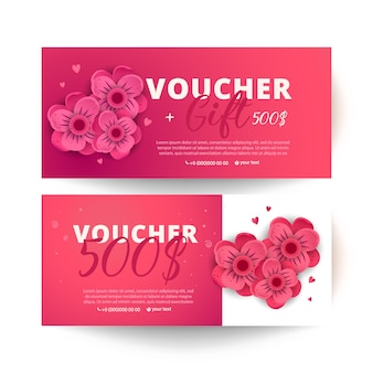 Set of colorful gift vouchers