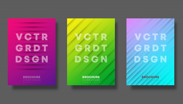 Set of colorful gradient cover