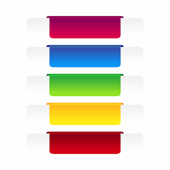 Set of colorful label banner.