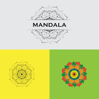 Set of colorful mandalas.